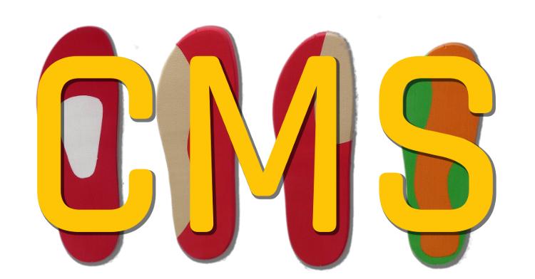 LA palabra CMS sobre plantillas